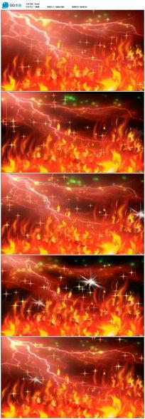 闪电火焰视频素材