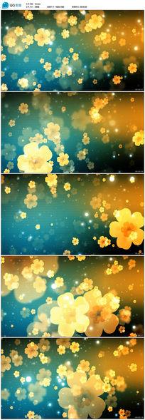 黄色小花飘落视频素材