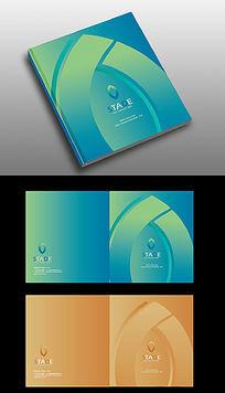 简洁叶子广告册封面设计
