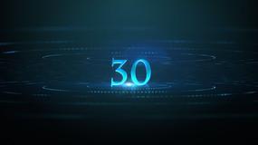 蓝色科技30秒倒计时视频