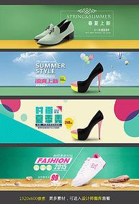 淘宝店铺春夏女单鞋海报