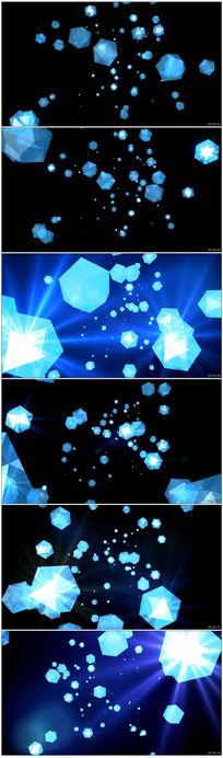 下落的蓝色钻石婚礼背景高清视频素材