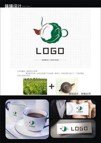 中式茶文化标志logo