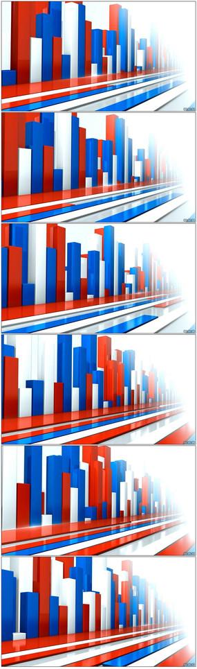 统计数据柱状图视频素材