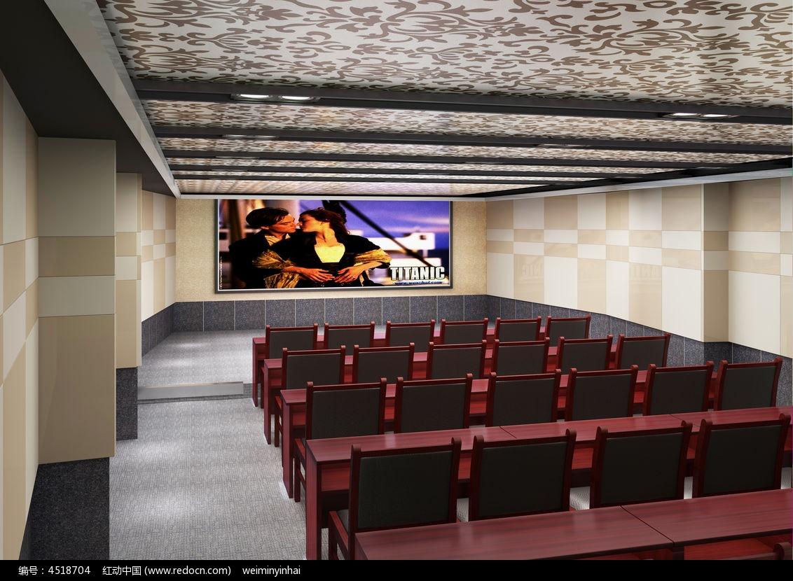 放映室3d模型下载3dmax素材下载_室内装修设计图片
