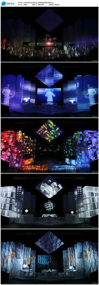 高清动态全息大屏幕裸眼3D投影秀背景
