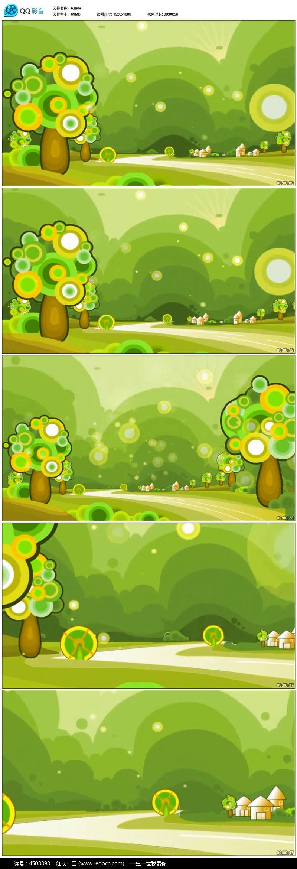 手绘卡通森林动态背景图片