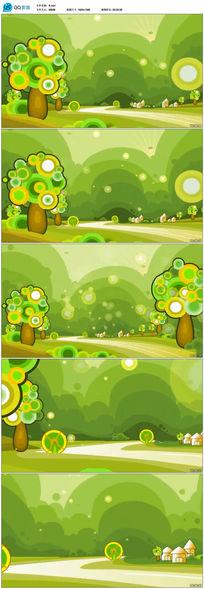 手绘卡通森林动态背景