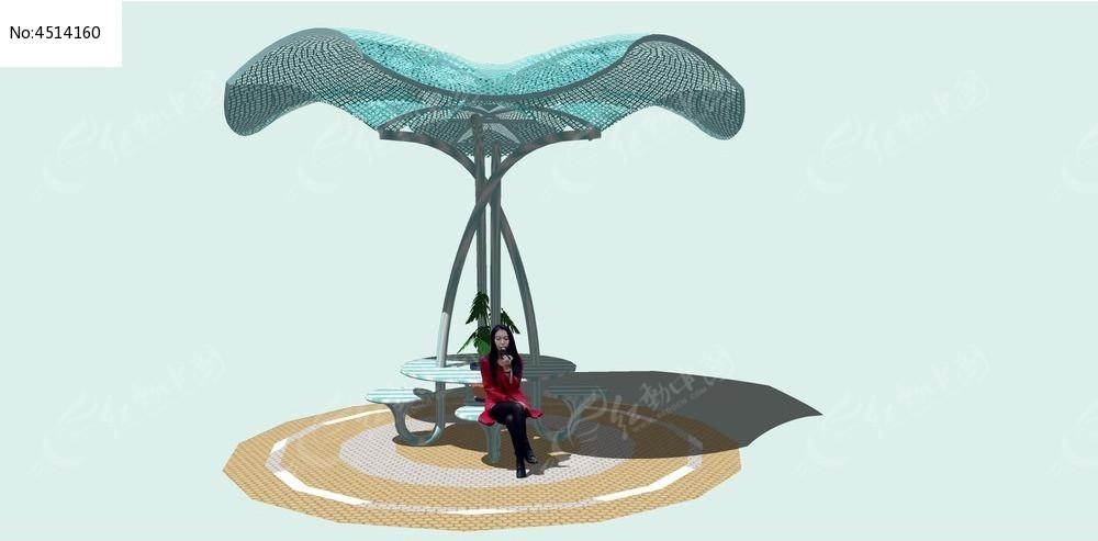 张拉膜d模型_张拉膜3D模型