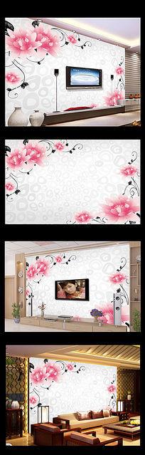 3D玫瑰花朵电视背景墙装饰画