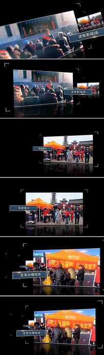 边角线框光效图片版式视频素材