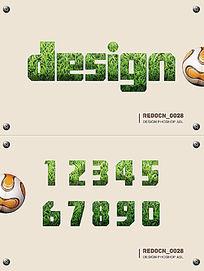 草皮质感字体样式