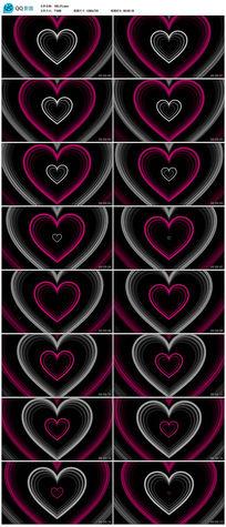 粉红色情人节婚礼心形图案视频背景素材