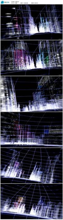 光影粒子城市科技动感舞台背景LED视频