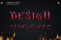 红色魔鬼质感字体效果