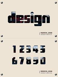 科技质感字体样式