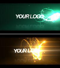 粒子logo开场片头模板