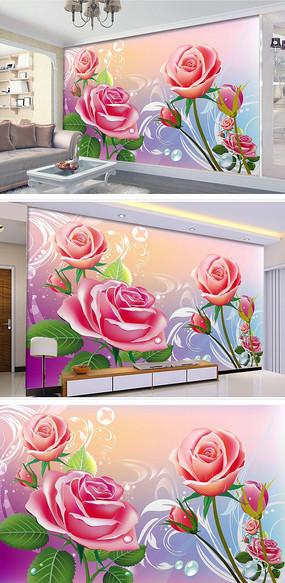 梦幻唯美时尚现代温馨背景墙