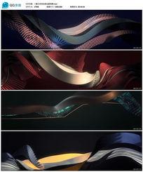 三维几何体扭曲动画视频