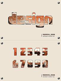 纹理质感字体样式