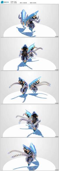 3D动画机械蝴蝶动态视频背景