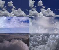 白云云卷云舒飘动视频素材