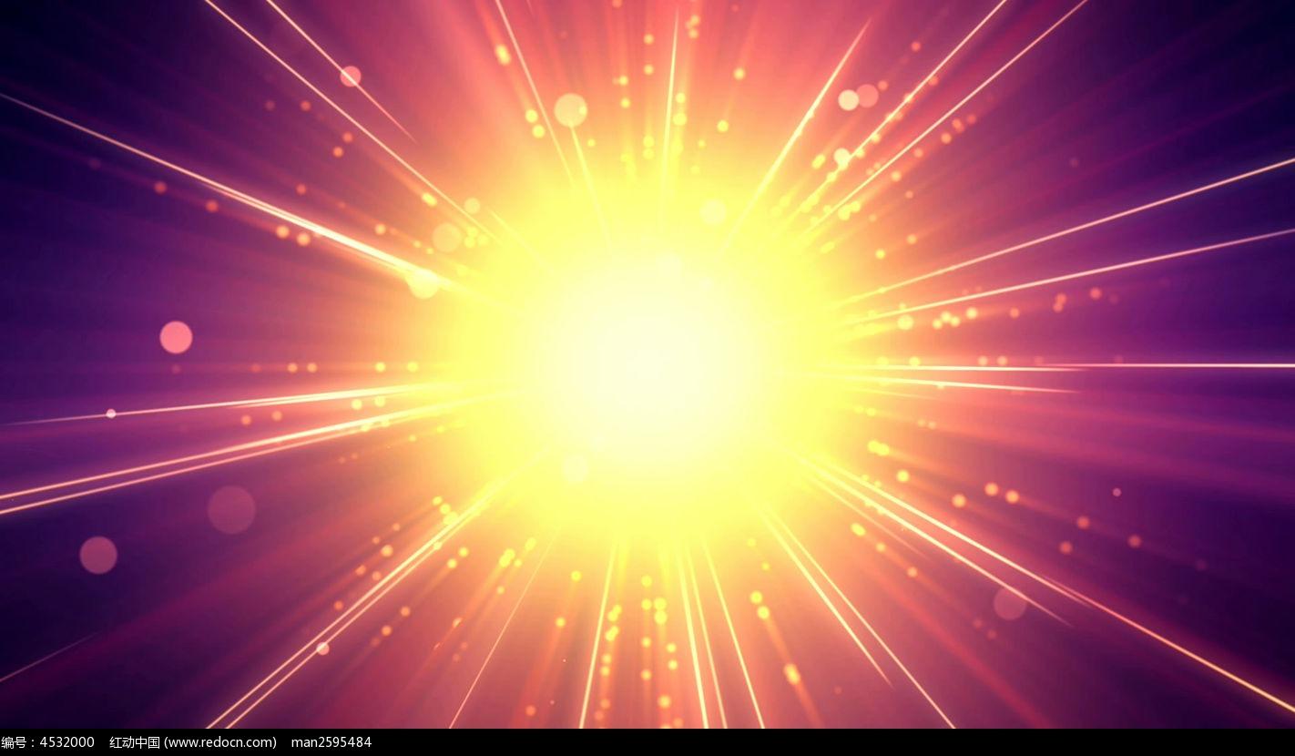 视频_发散光线视频背景素材