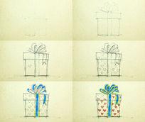 手绘礼物礼品盒视频