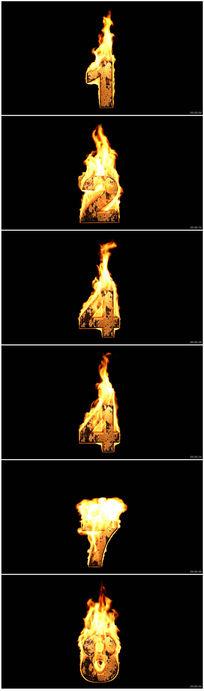火焰10秒顺时记时视频