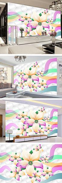 简约现代花纹室内背景墙