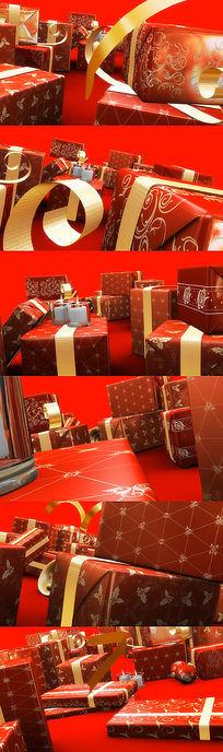 节日礼品盒视频素材