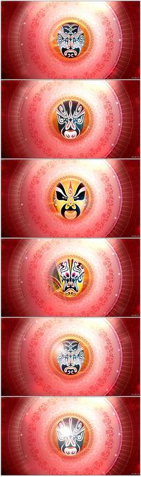 京剧脸谱戏曲类LED背景视频素材