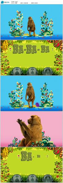 卡通娱乐猴子视频素材