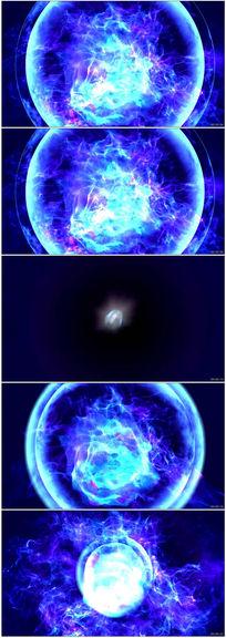 蓝色粒子飞舞宇宙星球视频素材