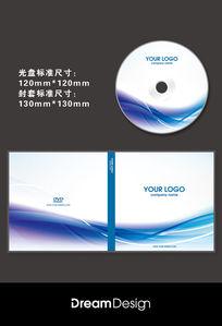 蓝色线条光盘CD封面设计