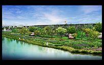 滨河景观效果图