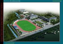 厂房景观园林规划3d模型