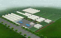 种植厂鸟瞰图3d模型