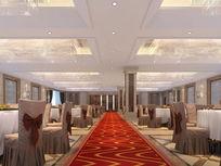 酒店3d宴会大厅模型