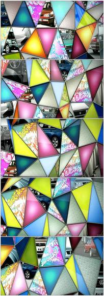 三角形折叠动态视频背景素材