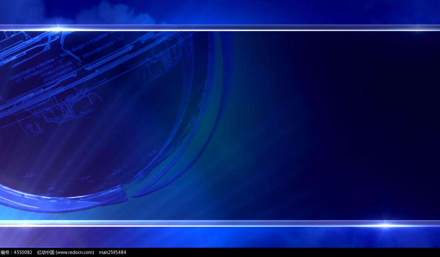 视频_商务蓝色背景视频素材