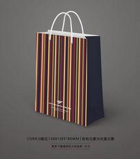 时尚条纹购物纸袋设计
