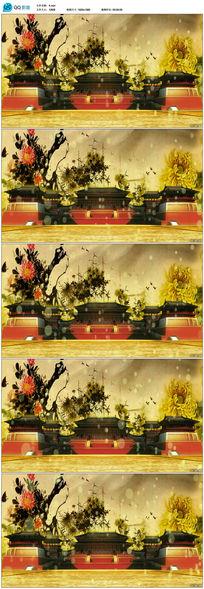 唯美大气水墨背景紫禁城视频素材
