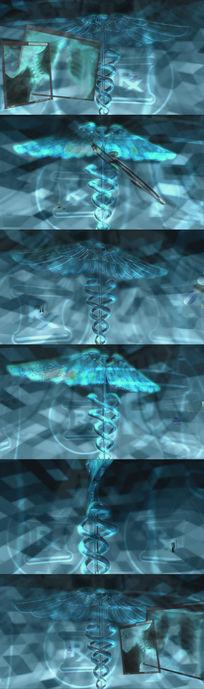 医疗类听诊器药片针管视频素材