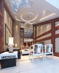 中式风格复式家装3d模型