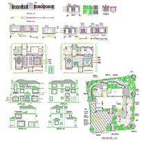 10款 别野建筑图cad图纸设计素材下载