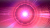 粉红色圆环光芒背景视频素材