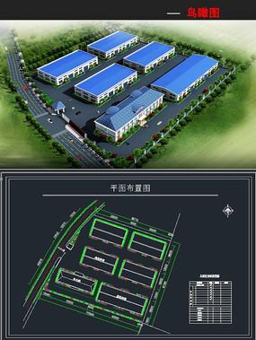 工厂厂房模型带贴图后期cad平面图