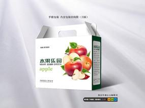 精品苹果手提包装箱模板