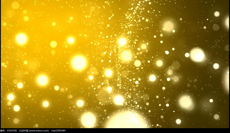 视频_金黄色光斑背景视频素材